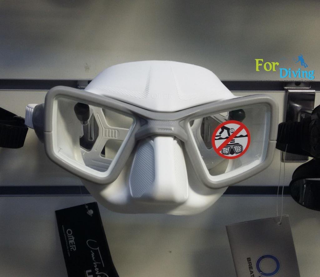 белая маска для фридайвинга OMER UP M1