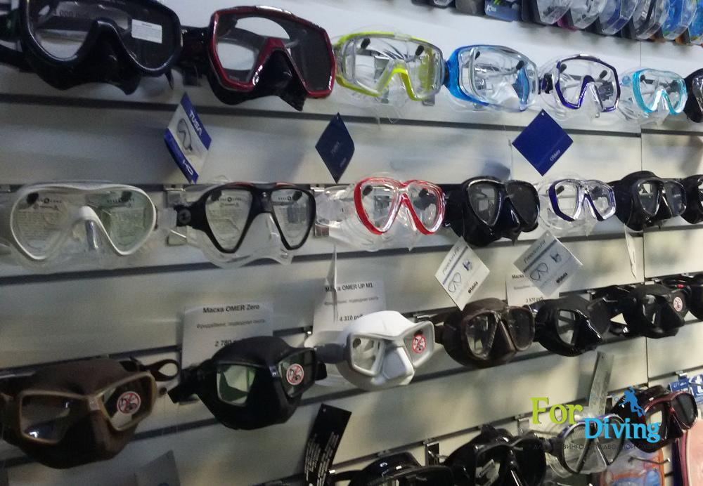маски для фридайвинга и подводного плавания в магазине fordiving